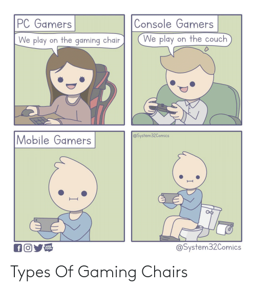 Gaming, Chairs, and Types Of: Types Of Gaming Chairs