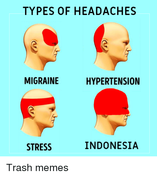 TYPES OF HEADACHES MIGRAINE HYPERTENSION STRESS INDONESIA ...