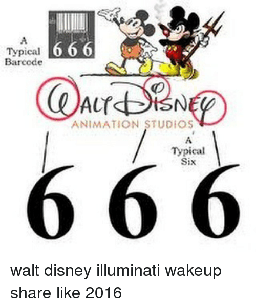 Typical 666 Barcode ANIMATION STUDIOS 6 Typical Walt Disney