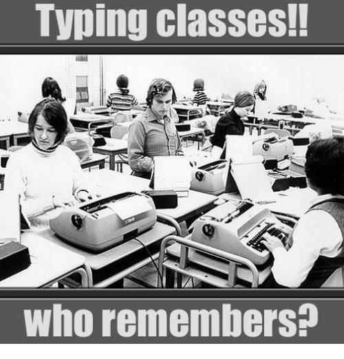 Typing Classes! Who Remembers | Meme on ME.ME