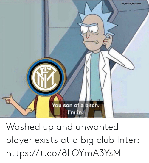 Club, Memes, and 🤖: u/a bunch_of_zeroes  You son of a bitch.  I'm in. Washed up and unwanted player exists at a big club  Inter: https://t.co/8LOYmA3YsM