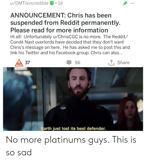 uDMTisincredible ANNOUNCEMENT Chris Has Been Suspended From