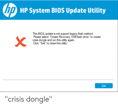 U HP System BIOS Update Utility This BIOS Update Is Not Support
