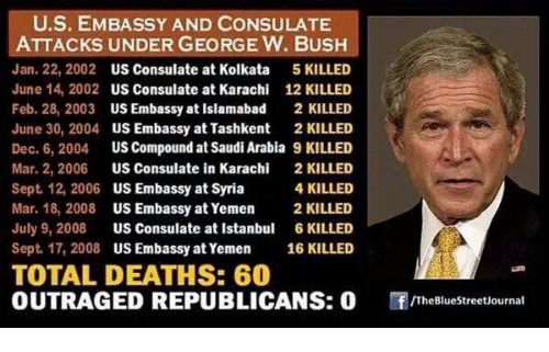 US EMBASSY AND CONSULATE ATTACKS UNDER GEORGE W BUSH Jan 22
