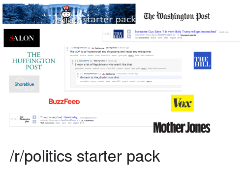 bad politics and starter packs ube tuashington post noname guy says
