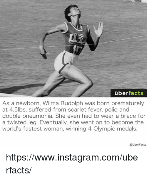 Uber facts as a newborn wilma rudolph was born prematurely at 45lbs wilma voltagebd Choice Image