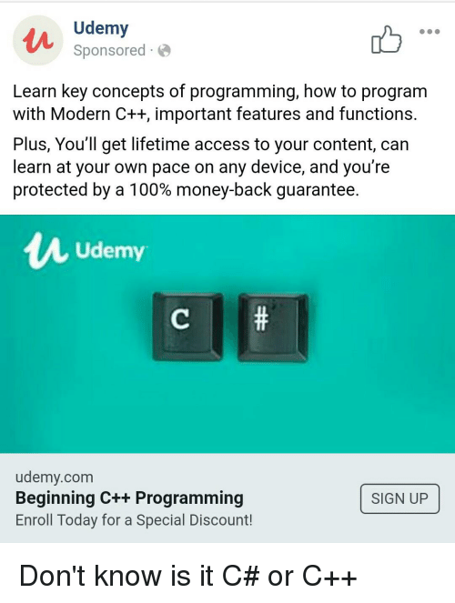 Udemy Sponsored- Learn Key Concepts of Programming How to
