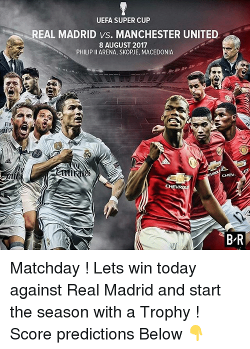 58858556ee1 UEFA SUPER CUP REAL MADRID vs MANCHESTER UNITED 8 AUGUST 2017 PHILIP ...