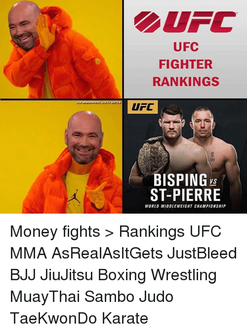 Ufc Fighter Rankings Ufc Bisping Vs St Pierre World Middleweight