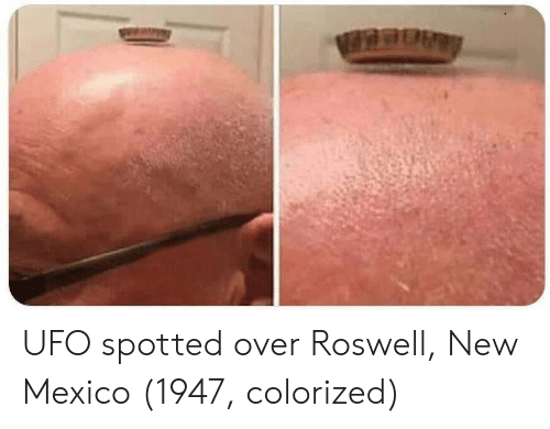 Mexico, New Mexico, and Roswell: UFO spotted over Roswell, New Mexico (1947, colorized)