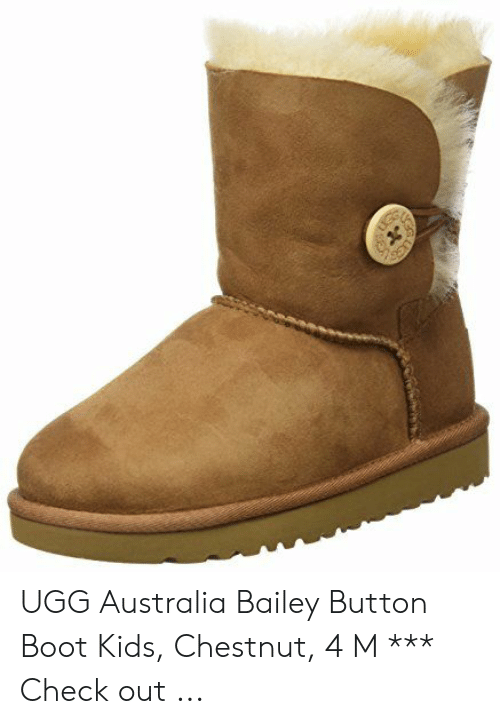 403fb192c73 UGG Australia Bailey Button Boot Kids Chestnut 4 M *** Check Out ...