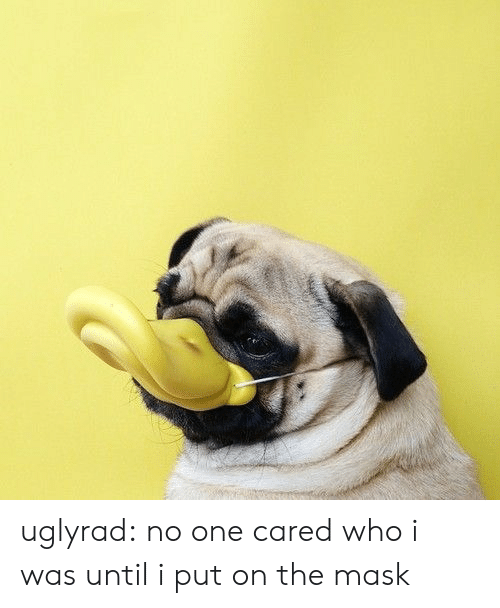 Tumblr, The Mask, and Blog: uglyrad: no one cared who i was until i put on the mask