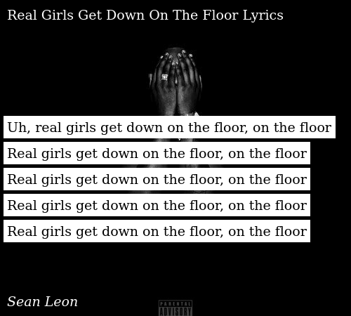 Uh Real Girls Get Down On The Floor On The Floor Real Girls