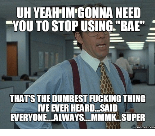 uh yeahimegonna need you to stop using bae thats the 14185329 ✅ 25 best memes about that is the dumbest thing ive ever heard