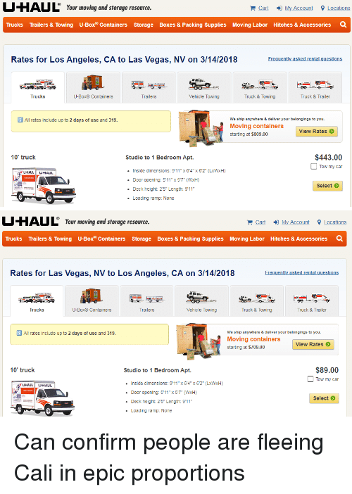 UHAUL Your Moving and Storage Resoure Cart My Account Locations