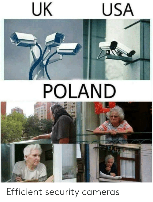 Poland, Usa, and Security: UK  USA  POLAND Efficient security cameras
