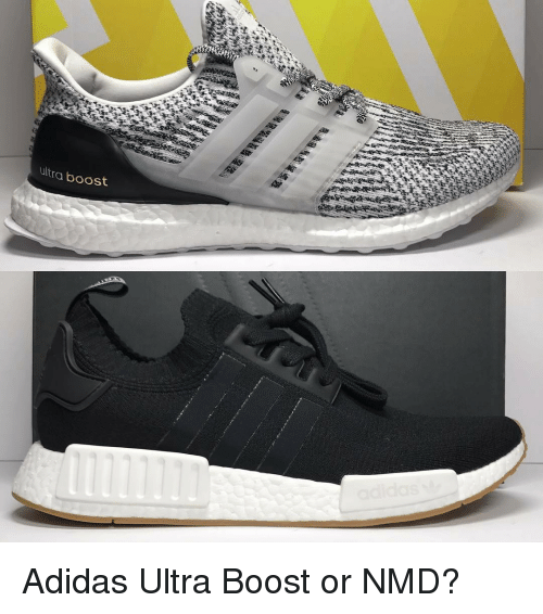 Adidas, Memes, and Boost: ultra boost Adidas Ultra Boost or NMD?