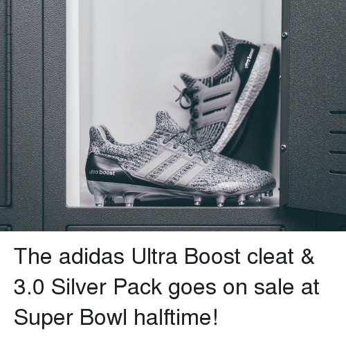32c205e288f Ultra Boost the Adidas Ultra Boost Cleat   30 Silver Pack Goes on ...