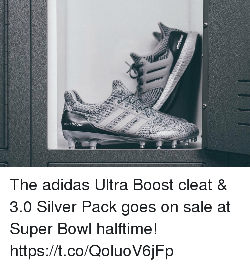 Ultra Boost the Adidas Ultra Boost Cleat  Amp 30 Silver Pack Goes on ... 66904b94b