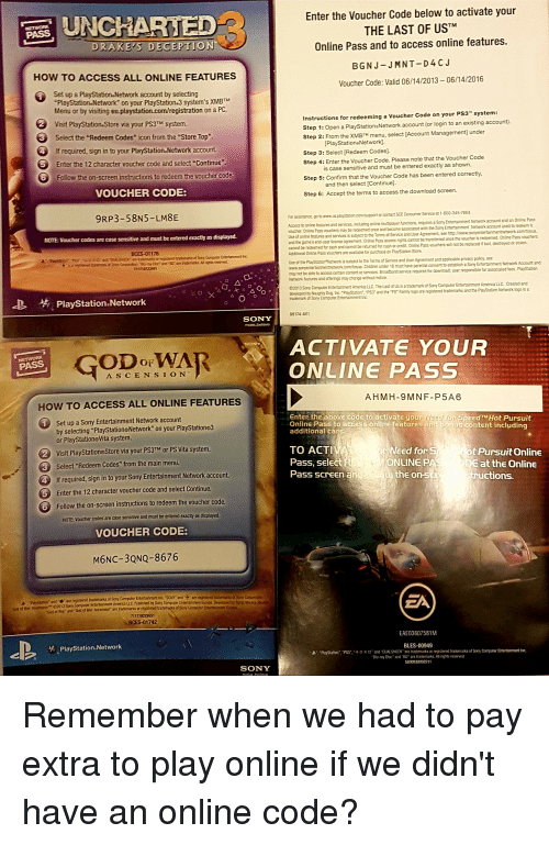 playstation activation code