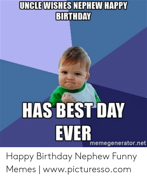 Cool Uncle Wishes Nephew Happy Birthday Has Best Day Ever Funny Birthday Cards Online Fluifree Goldxyz