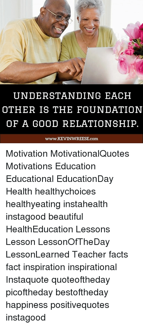 foundation of a good relationship