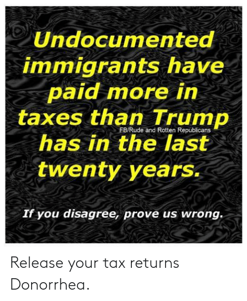 Undocumented Immigrants Have Paid More In Taxes Than Trump