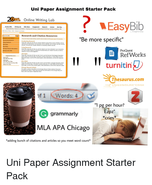 Uni paper assignment starter pack 20ml online writing lab purdue books chicago and family uni paper assignment starter pack 20ml online writing ccuart Choice Image