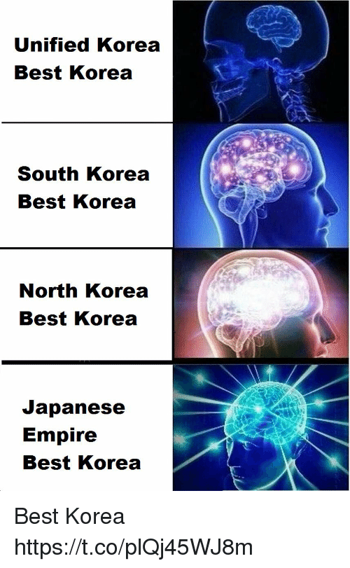 Empire, North Korea, and Best: Unified Korea  Best Korea  South Korea  Best Korea  0)  North Korea  Best Korea  Japanese  Empire  Best Korea Best Korea https://t.co/plQj45WJ8m