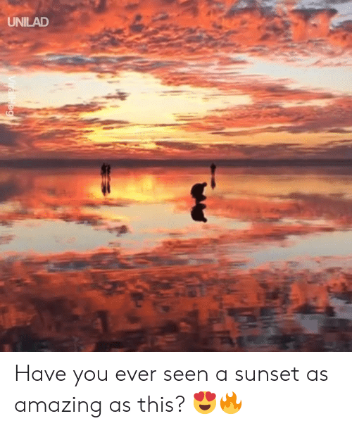 Dank, Sunset, and Amazing: UNILAD Have you ever seen a sunset as amazing as this? 😍🔥