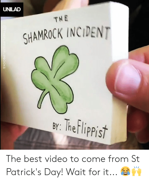Dank, Best, and St Patrick's Day: UNILAD  THE  SHAMROCK INCIDENT  ar: Thef lippist The best video to come from St Patrick's Day! Wait for it... 😂🙌