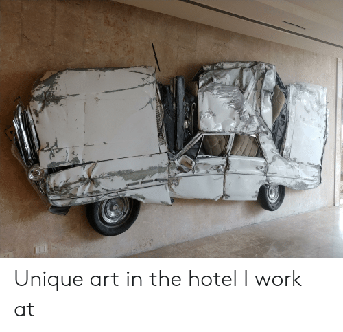 Work, Hotel, and Art: Unique art in the hotel I work at