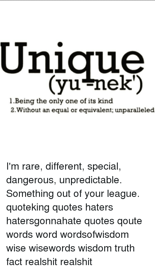 Unique Yu Nek L Being The Only One Of Its Kind 2 Without An Equal Or