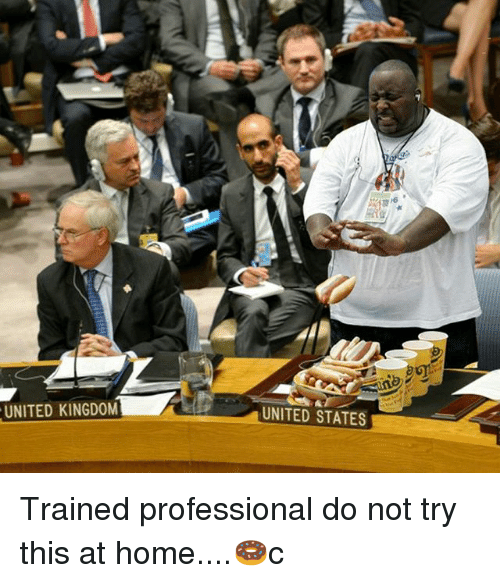 Memes, Home, and United: UNITED KINGDOM  UNITED STATES Trained professional do not try this at home....🍩c