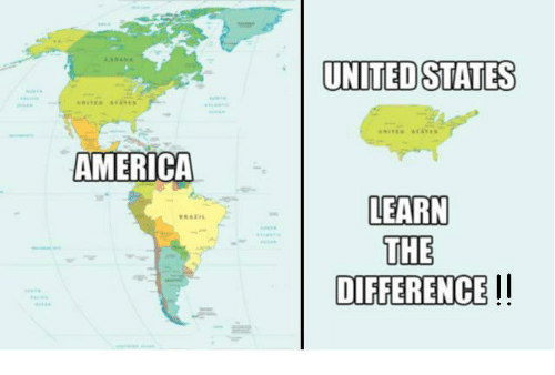 UNITED STATES AMERICA LEARN THE DIFFERENCE !! | America Meme on ME.ME