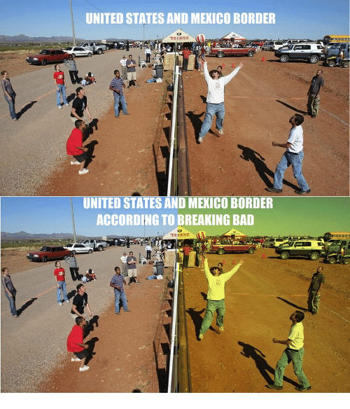 Wunderbar Bad, Breaking Bad, And Mexico: UNITED STATES AND MEXICO BORDER TECATE  UNITED STATES