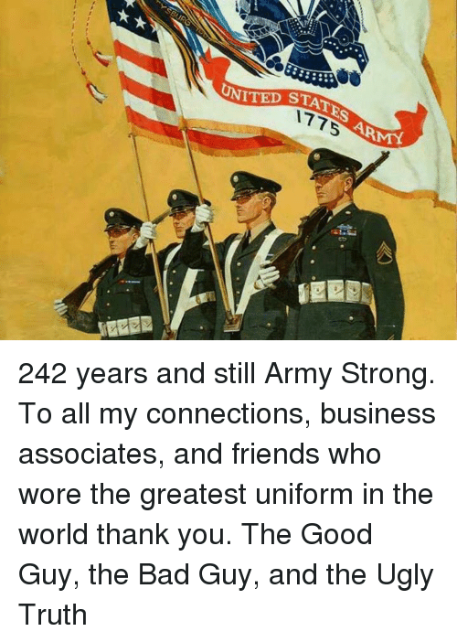 85aa49d58 Bad, Friends, and Memes: UNITED STATES ARMK 242 years and still Army Strong