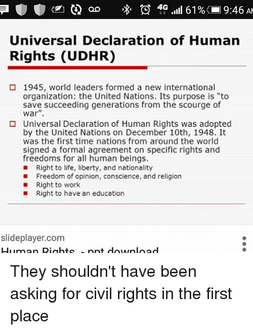 Universal Declaration Of Human Rights Udhr 1945 World Leaders Formed