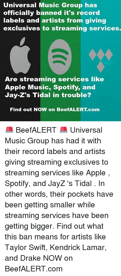 Universal Music Group Has Officially Banned It's Record Labels and