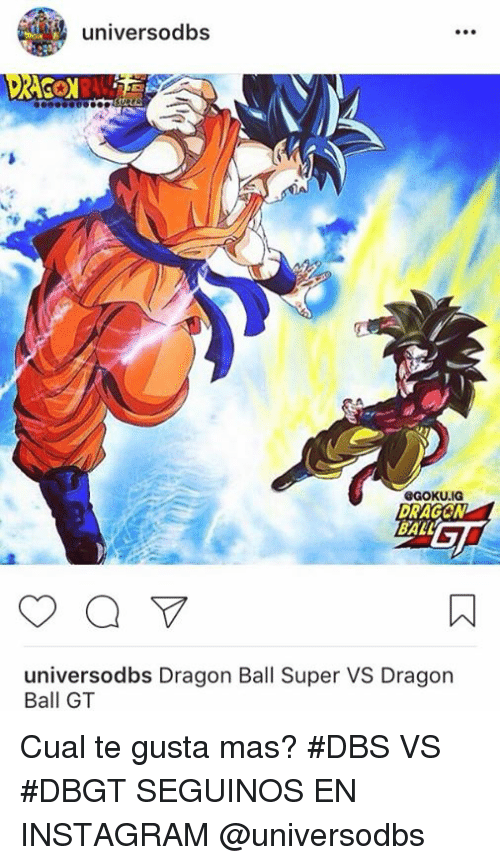 Universodbs Aragon Ball Universodbs Dragon Ball Super Vs Dragon Ball