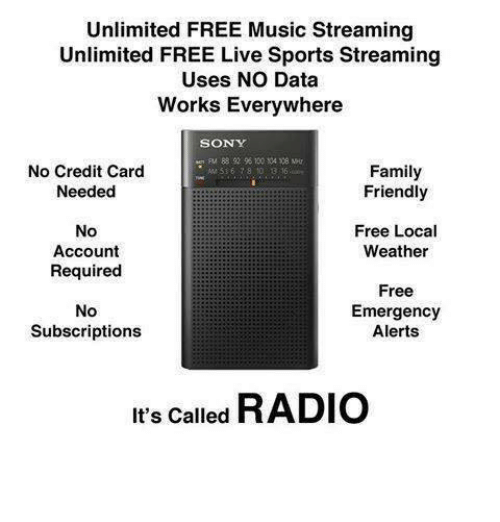 Unlimited FREE Music Streaming Unlimited FREE Live Sports