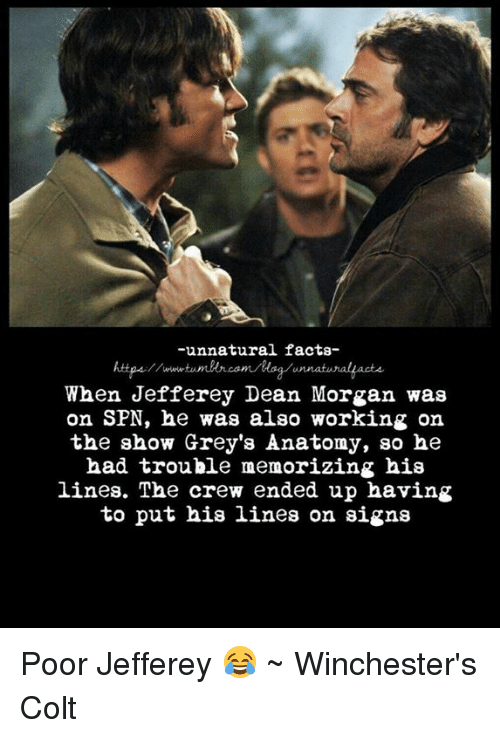 Unnatural Facts- When Jefferey Dean Morgan Was on SPN He Was Also ...