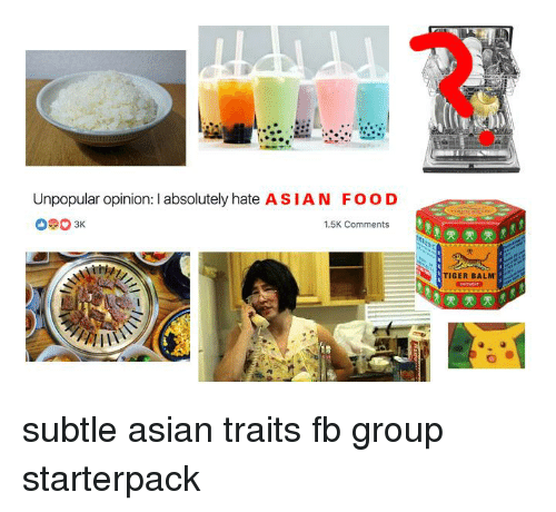 Unpopular Opinion I Absolutely Hate Asian Food 15k Comments 雯雯雯