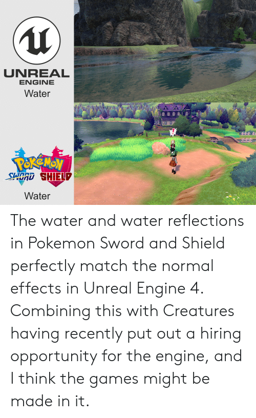 UNREAL ENGINE Water Water the Water and Water Reflections in Pokemon