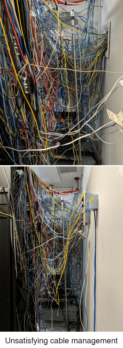 Cable, Management, and Unsatisfying: Unsatisfying cable management