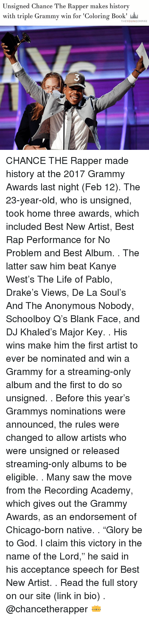 The coloring book grammy - Chance The Rapper Memes And Schoolboy Q Unsigned Chance The Rapper Makes History