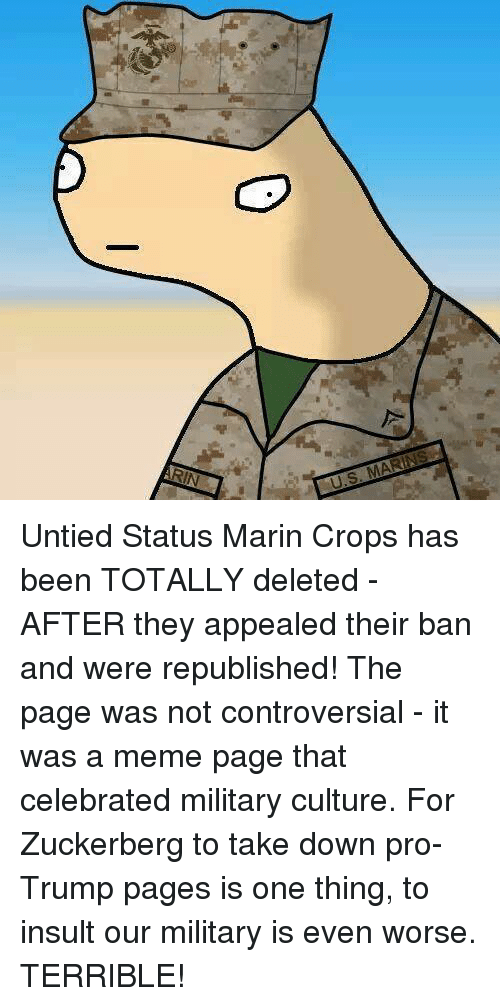 untied status marin crops has been totally deleted after they