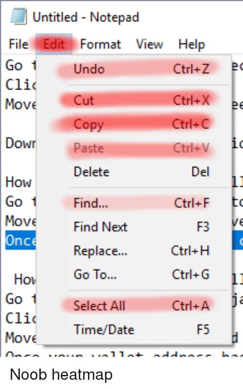 Date, Help, and Time: Untitled - Notepad File Edit Format View Help Ctrl