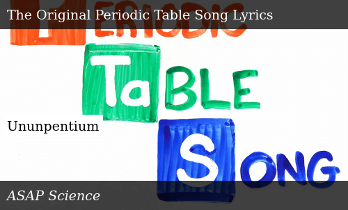 asapscience the new periodic table song
