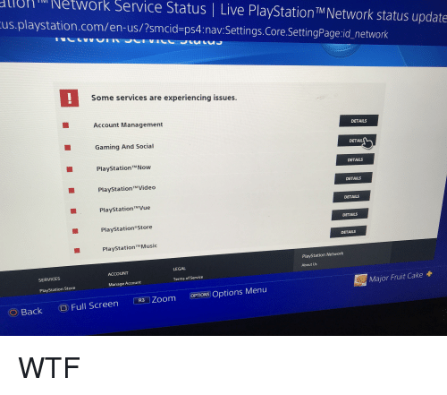 uontNetwork Service Status | Live PlayStation TM Network Status